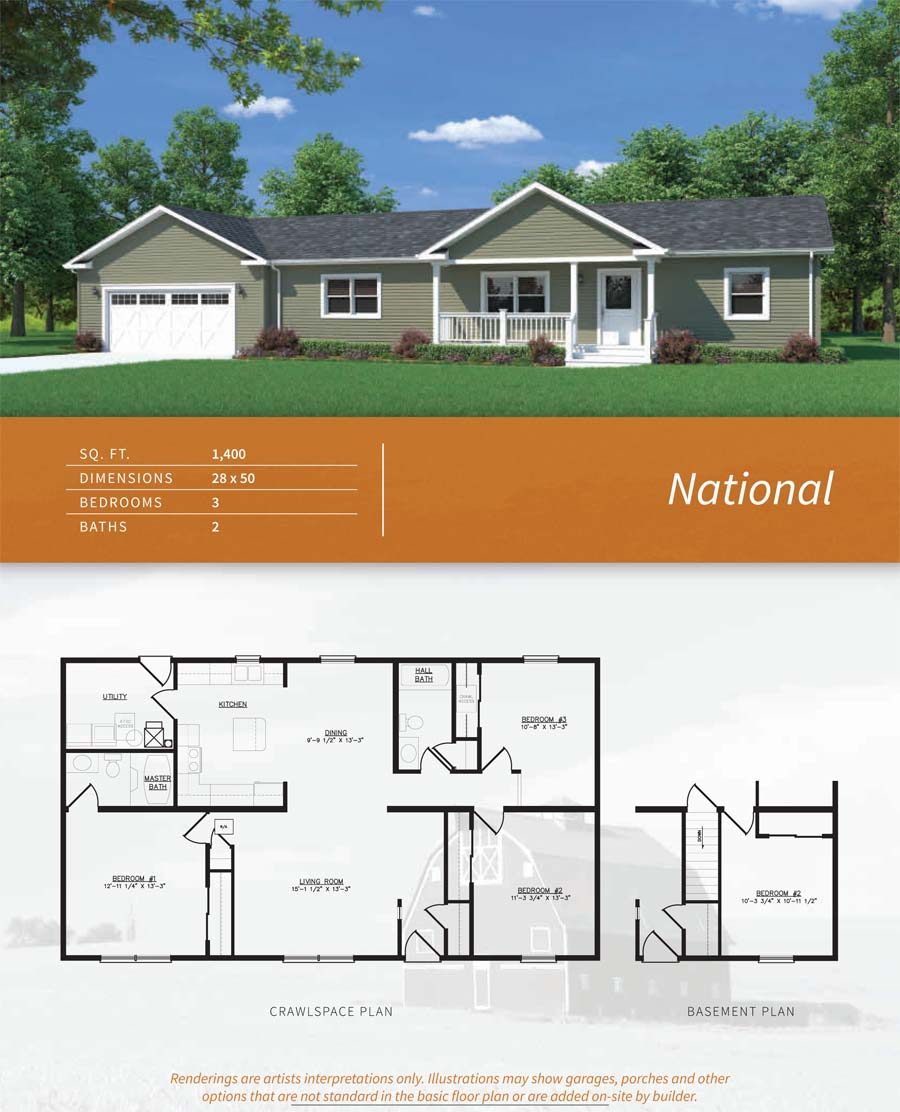 The National Ranch Style Home